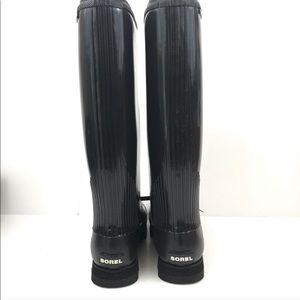 Sorel black rain boots Brand new never worn